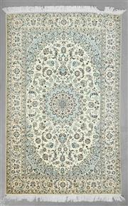 Sale 8539C - Lot 37 - Super Fine Persian Nain Silk Inlay 236cm x 150cm