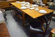 Sale 8550 - Lot 1011 - McIntosh Rosewood Table & Set of Eight Chairs