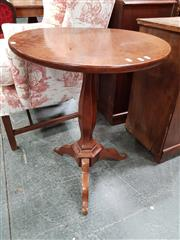Sale 8848 - Lot 1017 - 19th Century French Walnut Occasional Table, with tilt-top., hexagonal pedestal & three outswept feet