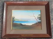 Sale 9053 - Lot 2085 - Hyde Perrott, Grotto Pint, Middle Harbour NSW, pastel, 40 x 47 cm, signed lower left