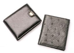 Sale 9098 - Lot 54 - A Dunhill Wallet And An Ostrich Leather wallet