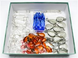 Sale 9164 - Lot 71 - A box of lustre crystals incl some coloured examples