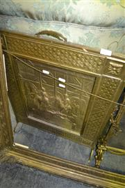Sale 8093 - Lot 1387 - Pressed Metal Fire Screen