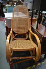 Sale 8115 - Lot 1153 - Bentwood Rocker Rattan Seat and Back