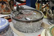 Sale 8169 - Lot 2294 - Silver Plated Squirrel Bowl with a Pair of Silver Plated Pheasants