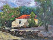 Sale 8234A - Lot 16 - Zengping Lai (1964 - ) - House With Red Roof 60 x 80cm