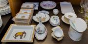 Sale 8310A - Lot 141 - A collection of Continental cendriers and pin dishes inc. Herend, Heutchenruther etc.