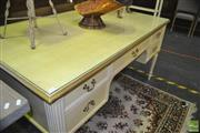 Sale 8338 - Lot 1363 - Painted Kneehole Desk of Five Drawers