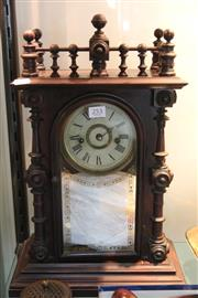Sale 8362 - Lot 253 - Timber Mantle Clock