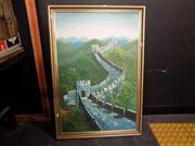 Sale 8413T - Lot 2095 - Artist Unknown, Great Wall, acrylic on board, 89 x 59cm, unsigned