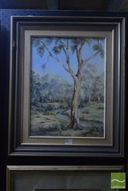 Sale 8541 - Lot 2074 - Barbara Dunn Solitude: Woollamia, Huskisson NSW Framed Acrylic on Board SLL