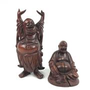 Sale 8545N - Lot 295 - Pair of Timber Carved Immortals (Tallest H: 31cm)