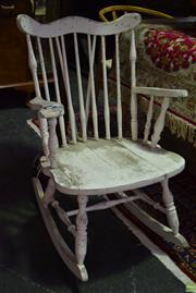 Sale 8566 - Lot 1733 - Rustic Timber Rocking Armchair
