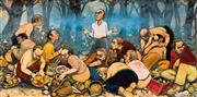 Sale 8791 - Lot 559 - Fred Cress (1938 - 2009) - The Last Picnic 122 x 244cm