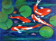 Sale 8841 - Lot 2049 - Greg Lipman (1938 - ) - Koi Colour 76 x 101.4cm