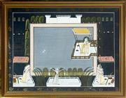 Sale 9087H - Lot 269 - Indian school, 20th century - court scene signed lower right ' Satya'