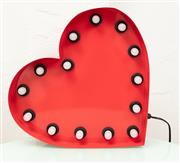 Sale 9066H - Lot 73 - A red metal heart lamp, H 39cm.