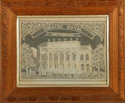 Sale 9164 - Lot 12 - Framed needle work of the Theatre Royal, Nottingham (60cm x 49cm)