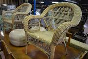 Sale 8087 - Lot 1079 - Pair of Cane Armchairs