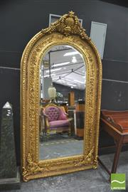 Sale 8418 - Lot 1007 - Large Gillt Arch Top Mirror
