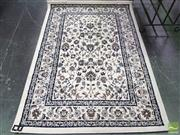 Sale 8424 - Lot 1023 - Modern Carpet with Floral Design on White Field (134 x 195cm)