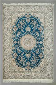 Sale 8539C - Lot 39 - Super Fine Persian Nain Silk Inlay 231cm x 160cm
