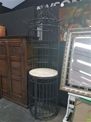 Sale 8620 - Lot 1010 - Iron Bar with Marble Top