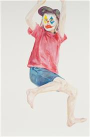 Sale 8781 - Lot 592 - Tyza Stewart (1990 - ) - Painting of me as a clown, #3 2014 90 x 60cm