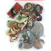 Sale 8793 - Lot 99 - North Sydney Bears, a large bundle of League Club Membership tags owned by Glen Whitney 1960s-80s, plus St George Leagues Club and m...