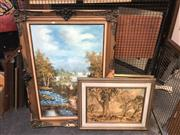 Sale 8850 - Lot 2037 - Group of Assorted Artworks incl: Circular Quay, Mountain Landscape, Hans Heysen facsimile print -