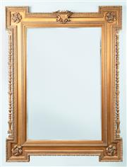 Sale 9040H - Lot 76 - A spectacular large gilded mirror 2.45m height 1.85m wide