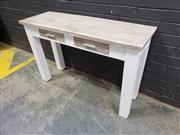 Sale 9043 - Lot 1010 - Rustic Timber Hall Table with Two Drawers (H:77 x W:120cm)