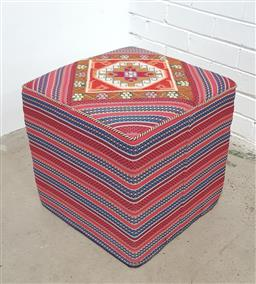 Sale 9134 - Lot 1541 - Hand knotted pure wool Persian kilim stool (h:41 w:42 d:42cm)