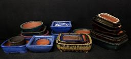 Sale 9254 - Lot 2316 - Collection of small coloured planters (various sizes)