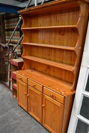 Sale 8031 - Lot 1016 - Large Pine Buffet and Hutch