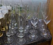Sale 8310A - Lot 142 - A collection of champagne flutes.