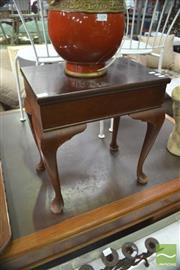 Sale 8406 - Lot 1109 - Timber Lift Top Piano Stool on Cabriole Legs