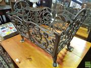 Sale 8495F - Lot 1025 - Cast Metal Kindling Basket
