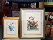 Sale 8682 - Lot 2098 - 6 Framed Floral Prints