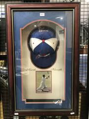 Sale 8805A - Lot 883 - Mark Waugh signed NSW Blues cap, and photo, nicely framed.