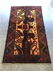 Sale 9006 - Lot 1031A - Hand Knotted Pure Wool Persian Buluchi (200 x 115cm)