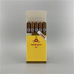 Sale 9165 - Lot 691 - Montecristo No.4 Cuban Cigars - pack of 5 cigars, removed from box stamped August 2019