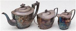 Sale 9162H - Lot 31 - A three piece silverplated tea service by Hardy Brothers