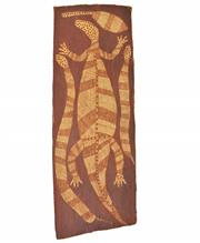 Sale 8325A - Lot 158 - Artist Unknown (XX) - Lizard and Snake 58 x 20.5cm