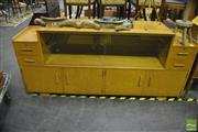 Sale 8338 - Lot 1010 - Art Deco Birdseye Maple Sideboard with Display Section