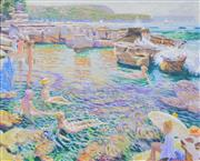 Sale 8382 - Lot 518 - Patrick Russell (XX - ) - At the Beach 85 x 106cm