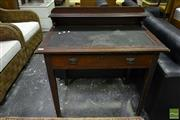 Sale 8499 - Lot 1641 - Ladies Desk with Tooled Leather Top