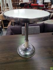 Sale 8637 - Lot 1083 - Chrome Base Smokers Table