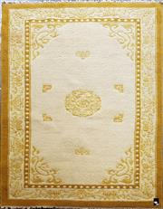 Sale 8740 - Lot 1561 - Oriental Cream & Tan Toned Rug (242 x 152cm)
