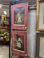 Sale 8924 - Lot 2030 - Pair of C19th Chromolithographs of Queen Victoria 1837 & 1887